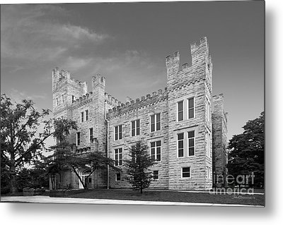 Illinois State University Cook Hall Metal Print by University Icons