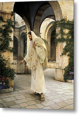In His Constant Care Metal Print by Greg Olsen