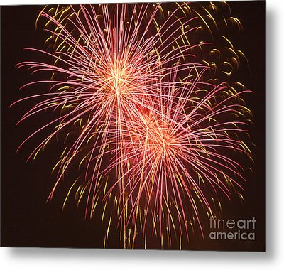Independence Day Fireworks Metal Print by Philip Pound