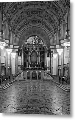 Interior Of St Georges Hall Liverpool Uk Grade 1 Listed Build Metal Print by Ken Biggs