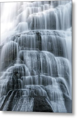 Ithaca Water Falls New York Panoramic Photography Metal Print by Paul Ge