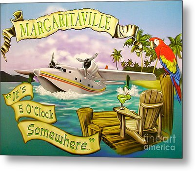 It's 5 O'clock Somewhere Metal Print by Desiderata Gallery