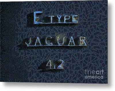 Jaguar E Type 4.2 Logo Metal Print by George Atsametakis
