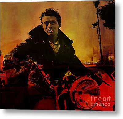 James Dean Metal Print by Marvin Blaine