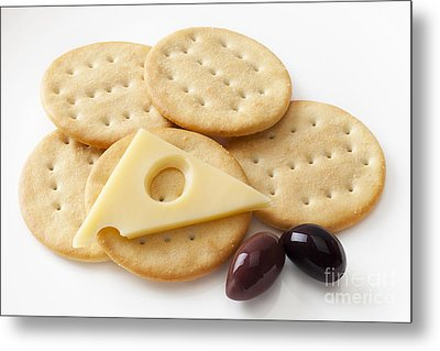 Jarlsberg Cheese And Crackers Metal Print by Colin and Linda McKie