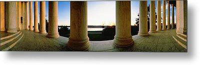 Jefferson Memorial Washington Dc Usa Metal Print by Panoramic Images