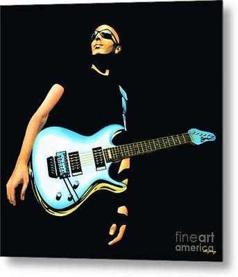 Joe Satriani Painting Metal Print by Paul Meijering