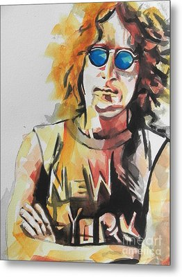 John Lennon 04 Metal Print by Chrisann Ellis