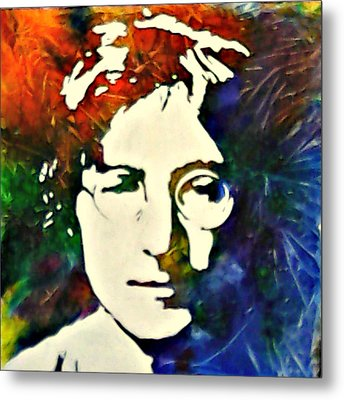 Metal Print featuring the painting John by Pasquale Di maso