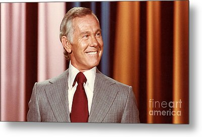 Johnny Carson Metal Print by Marvin Blaine