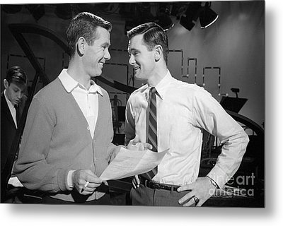 Johnny Carson With His Brother Dick Carson 1963 Metal Print by The Phillip Harrington Collection