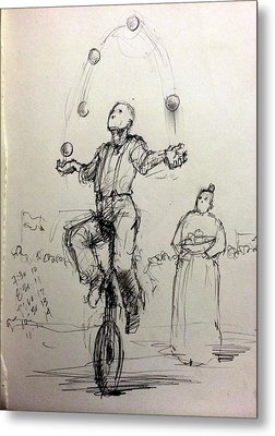 Juggler Metal Print by H James Hoff