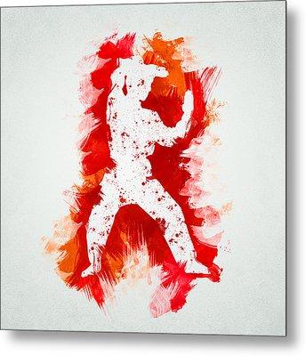 Karate Fighter Metal Print by Aged Pixel