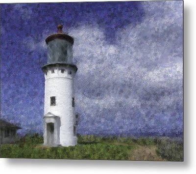 Kilauea Lighthouse Metal Print by Renee Skiba