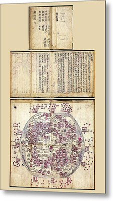 Korean World Map Metal Print by Library Of Congress, Geography And Map Division