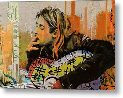 Kurt Cobain Metal Print by Corporate Art Task Force