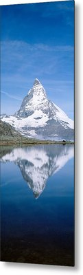 Lake, Mountains, Matterhorn, Zermatt Metal Print by Panoramic Images
