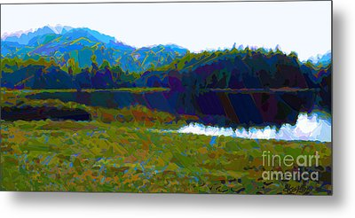 Lakeside Awakes Metal Print by Dorinda K Skains