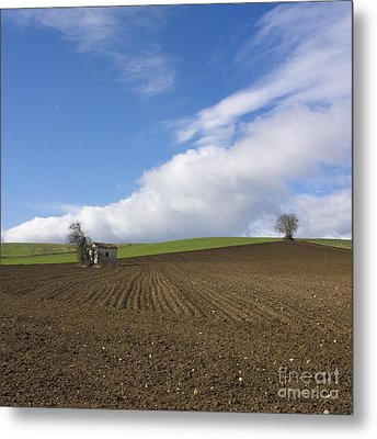 Landscape In France Metal Print by Bernard Jaubert