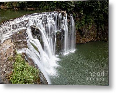 Landscape Shifen Waterfall In Taiwan Metal Print by Fototrav Print