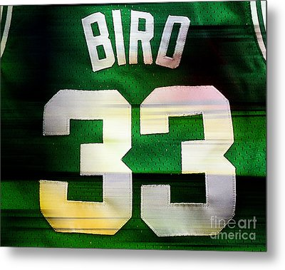 Larry Bird Metal Print by Marvin Blaine