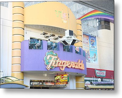 Las Vegas - Fremont Street Experience - 12122 Metal Print by DC Photographer