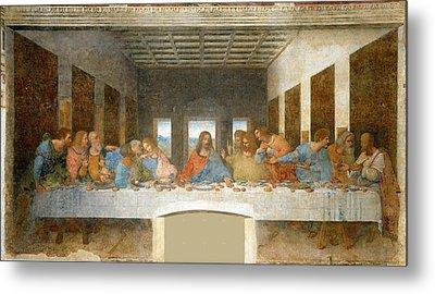 Last Supper Metal Print by Leonardo Da Vinci