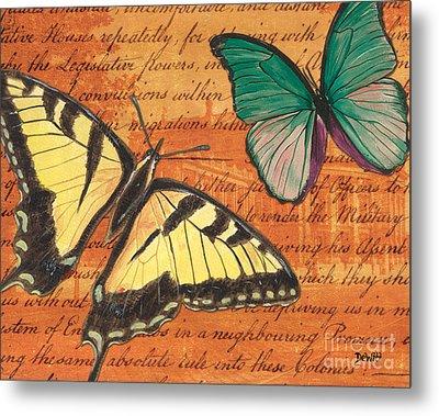 Le Papillon 3 Metal Print by Debbie DeWitt
