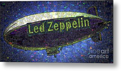 Led Zeppelin Metal Print by RJ Aguilar