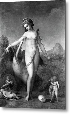 Leda And The Swan Metal Print by Granger