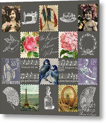 Les Timbres 1 Metal Print by Marion De Lauzun