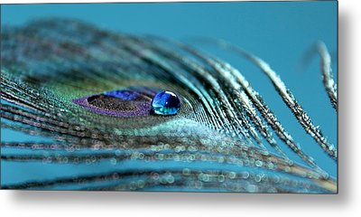 Liquid Blue Metal Print by Krissy Katsimbras
