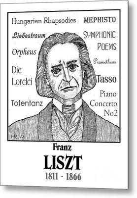 Liszt Metal Print by Paul Helm