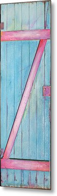 Little Z Door Revisited Metal Print by Asha Carolyn Young