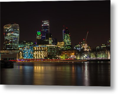London Skyline Metal Print by Martin Newman