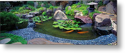 Lotus Blossoms, Japanese Garden Metal Print by Panoramic Images