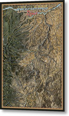 Lower Deschutes River Metal Print by Pete Chadwell