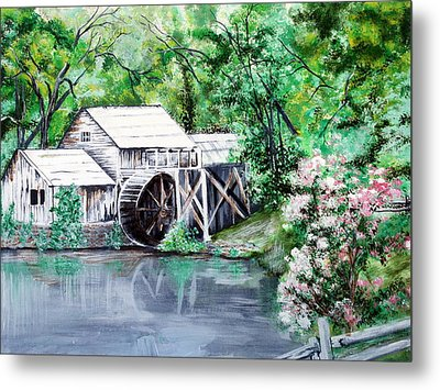 Mabry Mill Metal Print by Vickie Wright