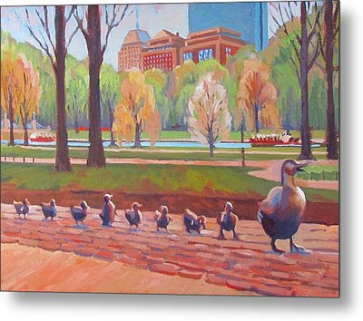 Make Way For Ducklings Metal Print by Dianne Panarelli Miller
