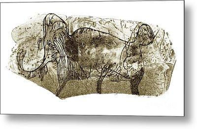 Mammoth, Prehistoric Bone Art Metal Print by Sheila Terry