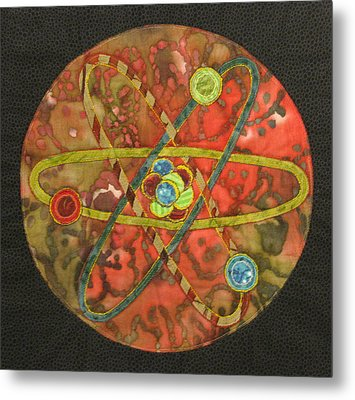 Mandala No 1 Atom Metal Print by Lynda K Boardman