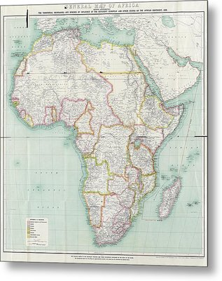 Map Of Africa Metal Print by Library Of Congress, Geography And Map Division
