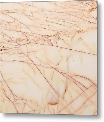 Marble Background Metal Print by Tom Gowanlock