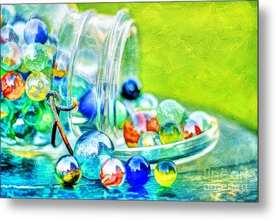 Marbles Metal Print by Darren Fisher