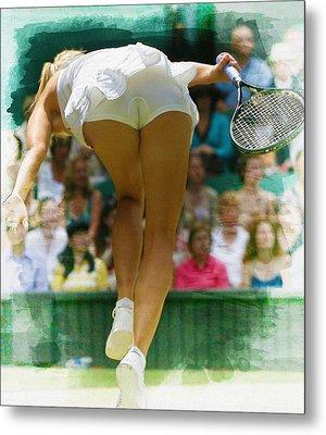Maria Sharapova -  Wimbledon Championships Metal Print by Don Kuing