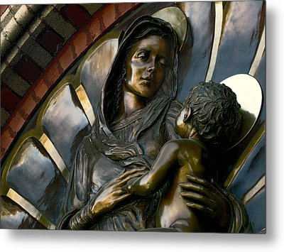 Mary And Jesus Metal Print by Daniel Hagerman