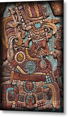 Mayan Hieroglyphs Metal Print by Lee Dos Santos