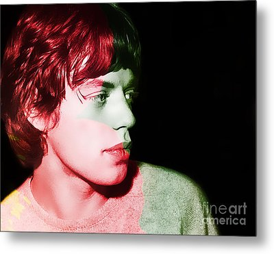 Mick Jagger Metal Print by Marvin Blaine