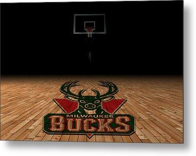 Milwaukee Bucks Metal Print by Joe Hamilton