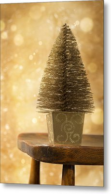 Miniature Christmas Tree Metal Print by Amanda Elwell